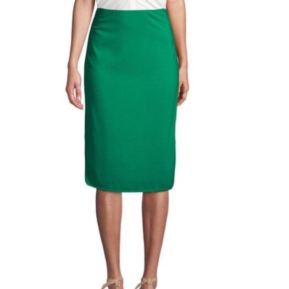 a878ef57d Diane Von Furstenberg Skirts | Dvf Cougarette Bright Green Pencil ...